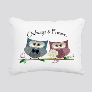 Owlways & Forever Cute O Rectangular Canvas Pillow
